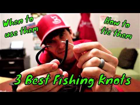 TOP 3 KNOTS Every Fisherman SHOULD KNOW | WHEN And HOW To Tie Them | B Fishing |