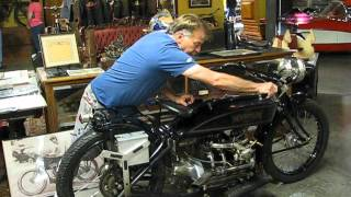 How to start a vintage Henderson motorcycle