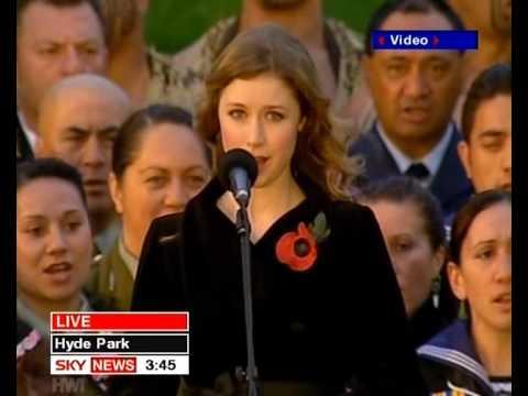 God Save The Queen & God Defend New Zealand - Hayley Westenra (NZ War Memorial Ceremony London 2006)