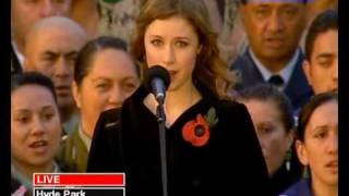 Watch Hayley Westenra God Defend New Zealand national Anthem video
