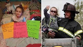 Dying 6-Year-Old Girl Becomes Cop and Firefighter For Bucket List