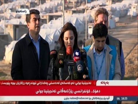 Angelina Jolie Visits Refugees in Iraq