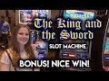 The King and The Sword Slot Machine! BONUS! Great Run!!