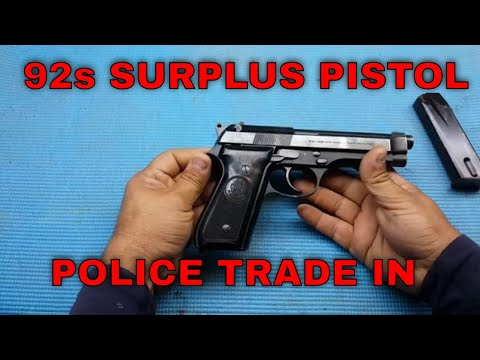 Classic Firearms - Beretta 92s Good / Very Good Condition Italy Police 9mm