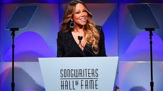 mariah carey presenting at the 2018 songwriters hall of fame