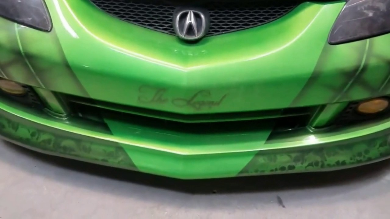 Custom Paint Job And Airbrush Work On A Acura Rsx Type S