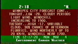 Environment Canada Weather Channel - Winnipeg 1996-03-04