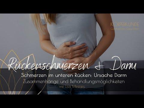 Schmerzen im unteren Rücken: Ursache Darm - YouTube