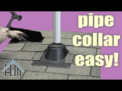 How to replace a roof pipe collar, vent collar, boot. Easy!