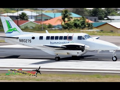 Hummingbird Air Beech 99 departing St. Kitts Robert L. Bradshaw Int'l Airport
