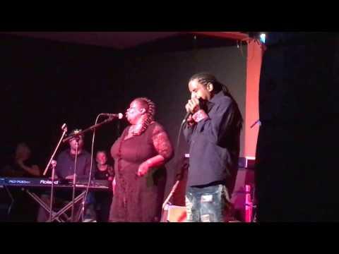 Kenny Neal & Diunna Greenleaf performing at 2017 Blast Furnace Blues fest-Mar 25, 2017