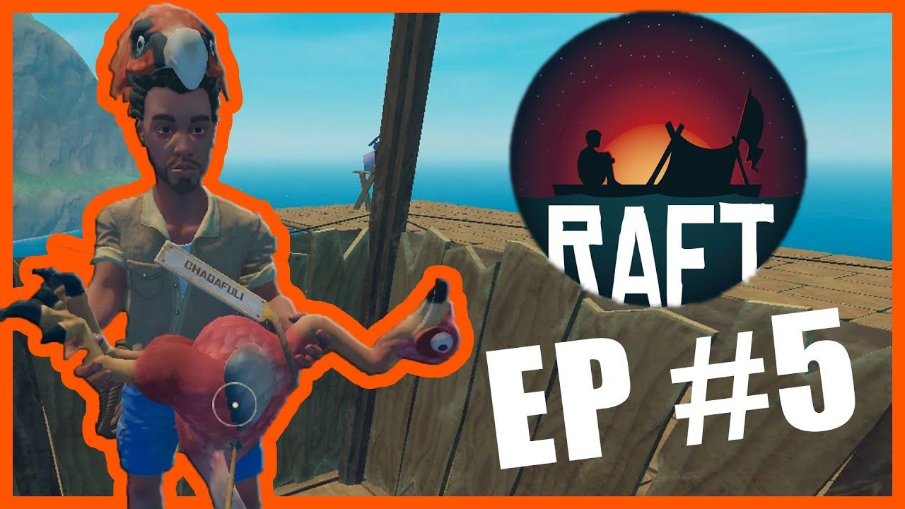 ქათამი რაფტზე! ცხოველები დავიჭირეთ! | RAFT #5 EP – S2