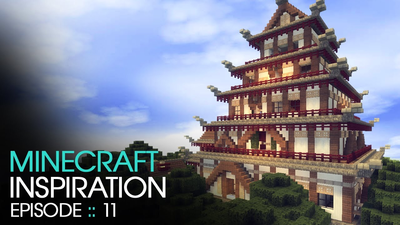 minecraft japanese temple inspiration w keralis youtube