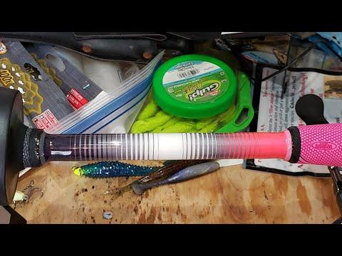 Pink Tiger Wrap Fishing Rod