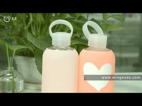 Silicone Bottle Sleeve Factory - Glass Water Bottle With Silicone Sleeve