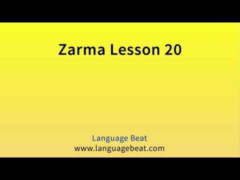 Learn Zarma   :  Lesson 20  -  Zarma  Phrases for Beginners