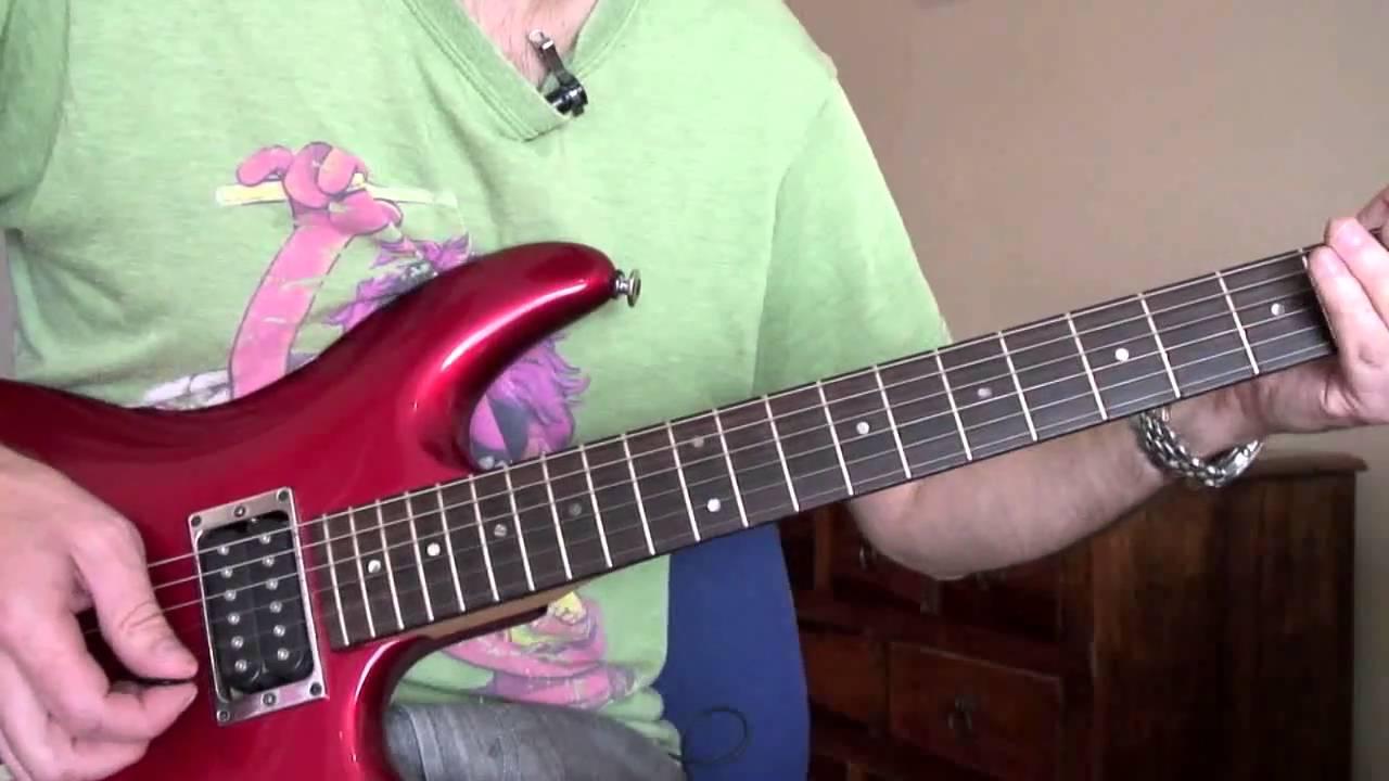 Bon Jovi Bed Of Roses Solo Lesson Youtube