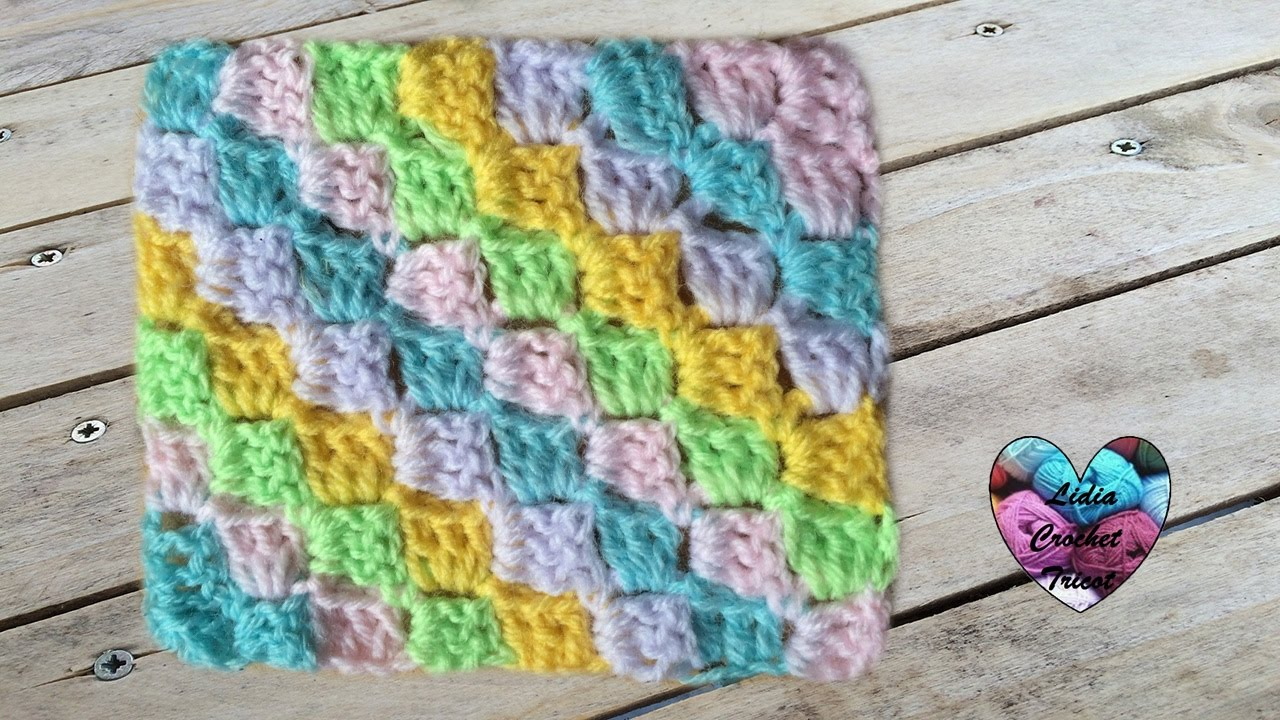 Tutoriel C2C corner to corner crochet / Tutorial C2C a crochet ...