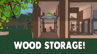 ROBLOX Lumber Tycoon 2 (One Plot Challenge) Ep.13 Building A Wood Storage!