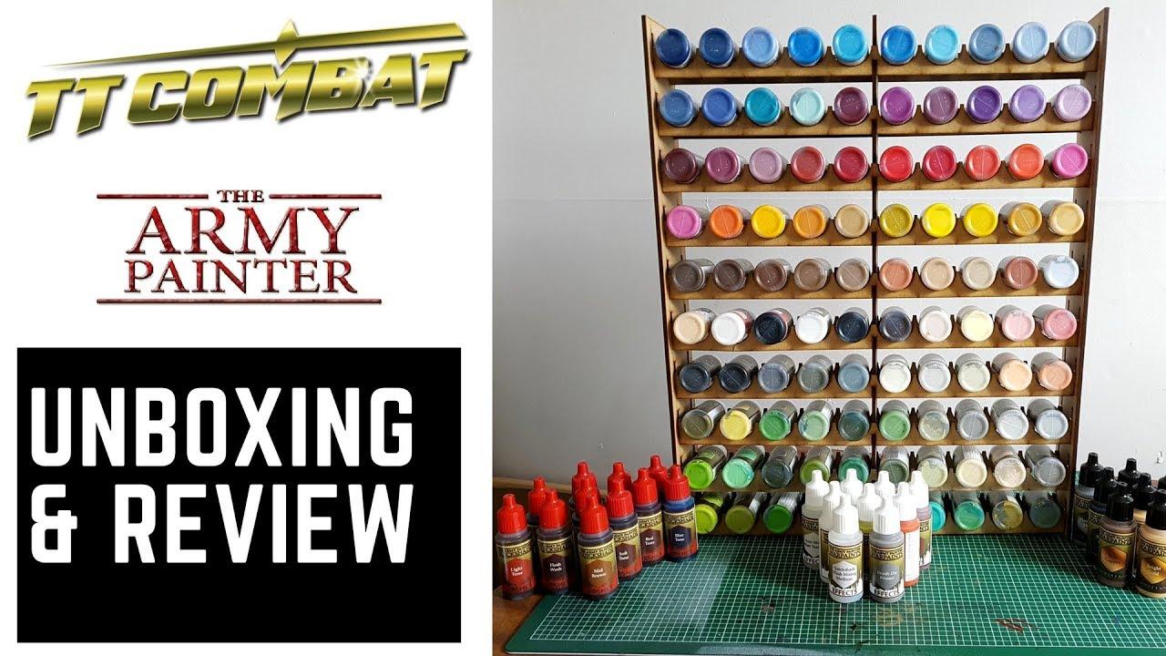 tt combat vallejo army painter 100 paint pot holder review