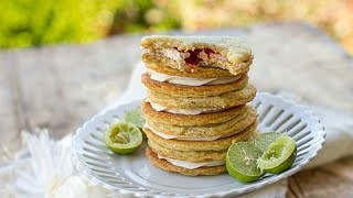 Key Lime Raspberry Sandwich Cookies Recipe Video Tutorial