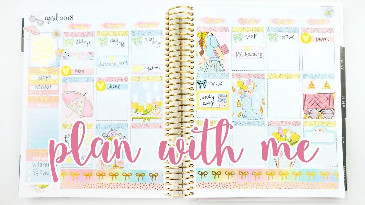 Plan with me ft printable stickers rainy day youtube for Plan me