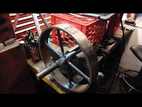 How to make a Steel Wheel for an Engine Cart - part 4