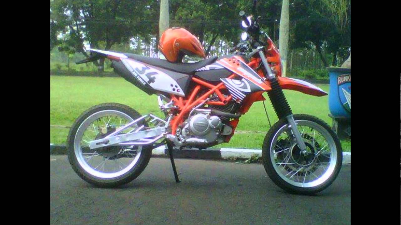 Video Motor Suzuki Thunder 125 Modifikasi Aliran Supermoto