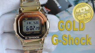 Обзор CASIO G-SHOCK  35th Anniversary золотые 5000-е / Модель 2018 года