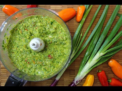 Caribbean Green Seasoning -The Ultimate Marinade | Caribbean