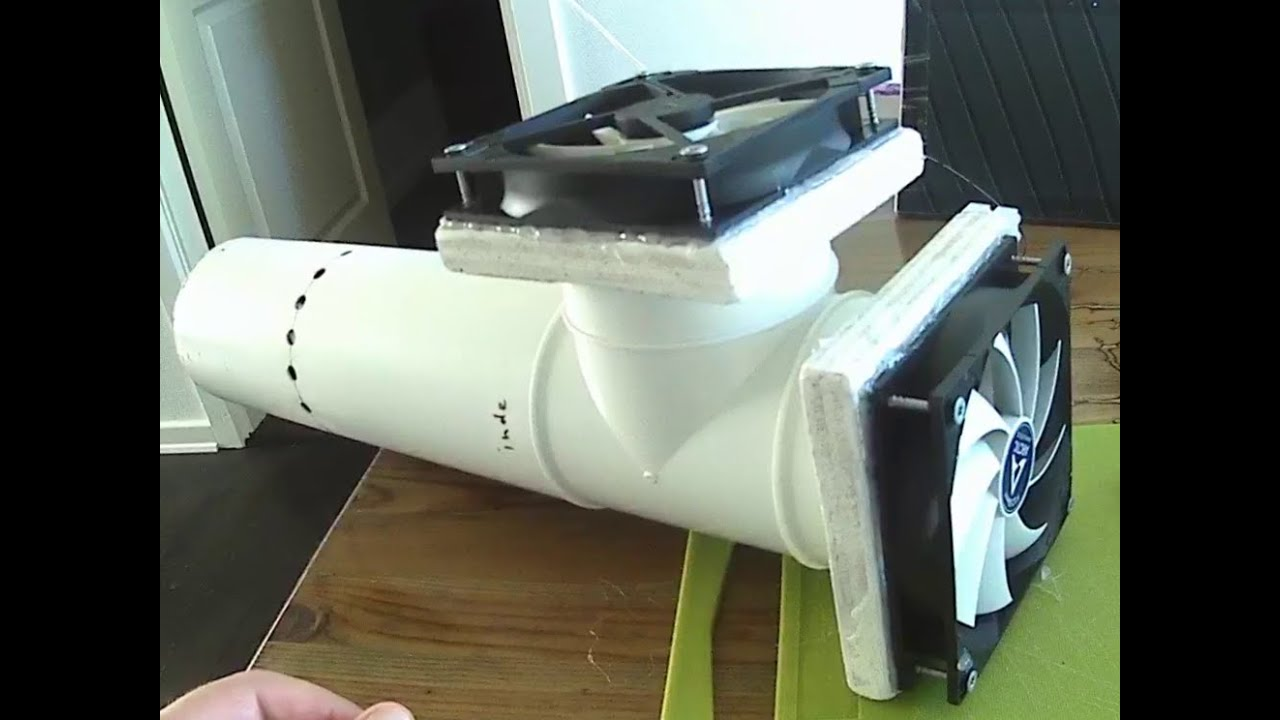 DIY simple cheap easy HRV=fresh air system for your home (prototype 2)