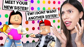 MY SON MET HIS BABY SISTER FOR THE FIRST TIME! *HE HATES HER* - Roblox - Bloxburg