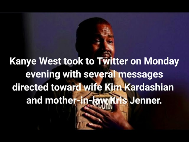 Kanye West Sends Cryptic Messages to Kim Kardashian and Kris Jenner on Twitter