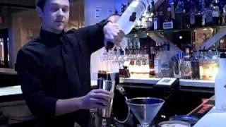 Chez Marilyn Bartender Jacob Scarborough Mixes...an Almond Joy Martini