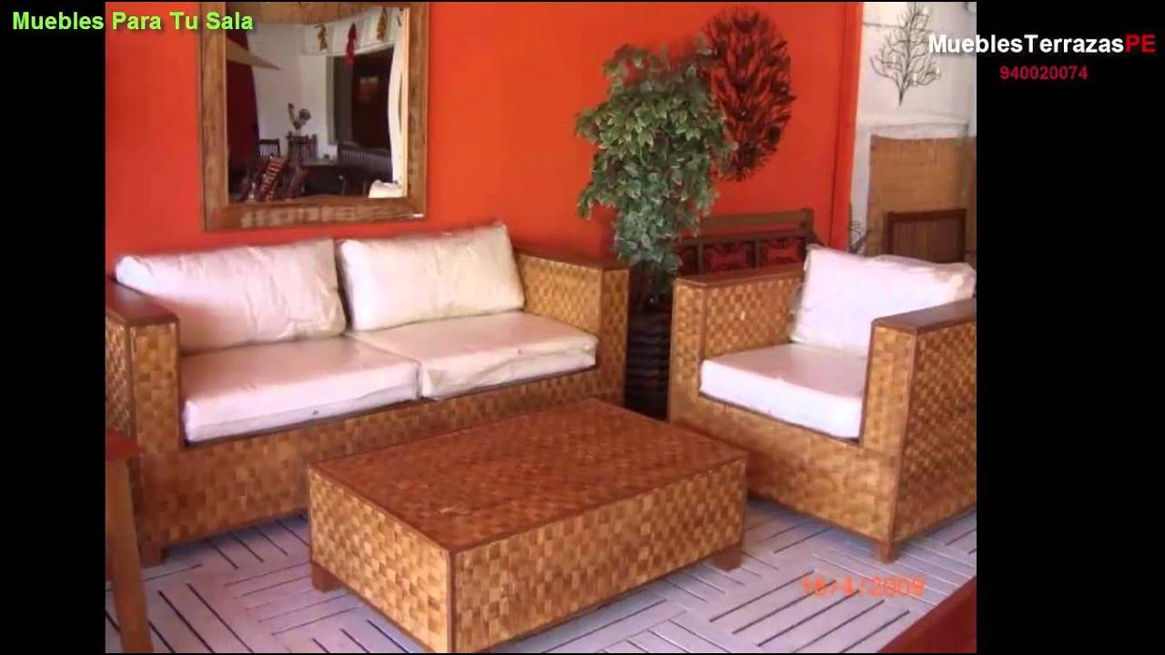 Muebles patio jardin salas en tejido y fibra natural for Muebles patio