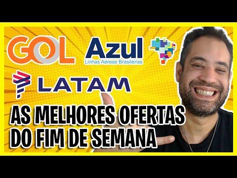 PASSAGENS GOL, LATAM E AZUL EM PROMOÇÃO! AS MELHORES OFERTAS DO FINAL DE SEMANA!