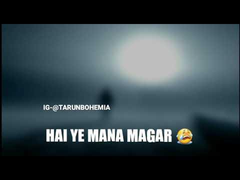 Zindagi Bewafa Hai Yeh Mana Magar    Hindi Song    Lyrics Video   