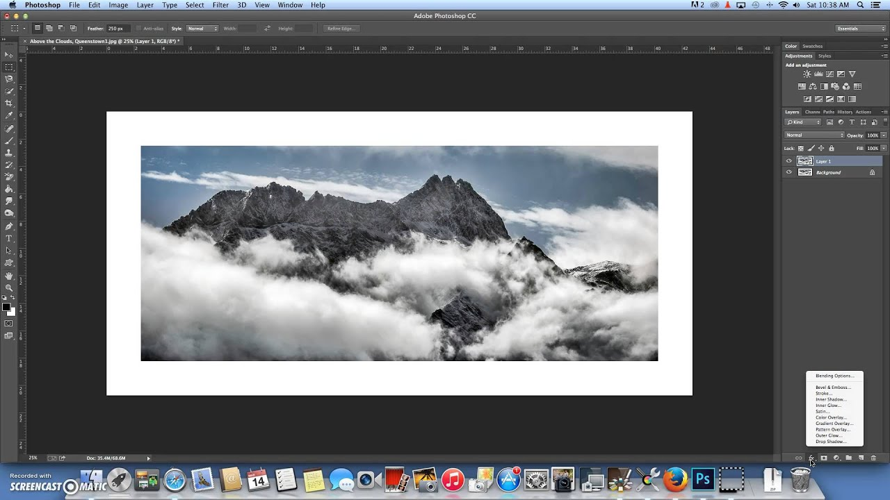 Creating a photo Frame in Photoshop CC - YouTube