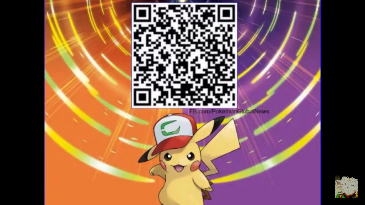 Ash Hat Pikachu Qr Code For Pokémon Ultra Sun And Ultra Moon