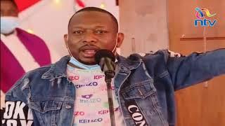 Mike Sonko's sensational speech at burial service of Senator Boniface Kabaka