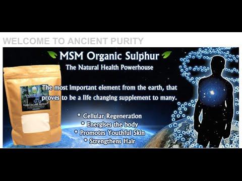Download Youtube: MSM Organic Sulphur (Results / Uses) Patrick McGean of Sulphur Study