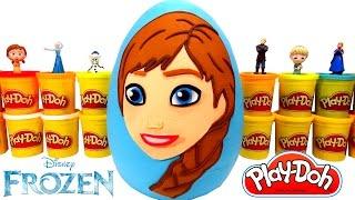 Huevo Sorpresa Gigante de Anna de Frozen en Español Plastilina Play Doh