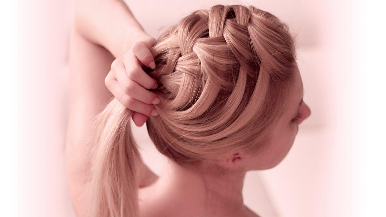 Criss Cross Waterfall Braid Hairstyle For Everyday Medium Long Hair Tutorial