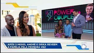 Drika e André reveem os filhos