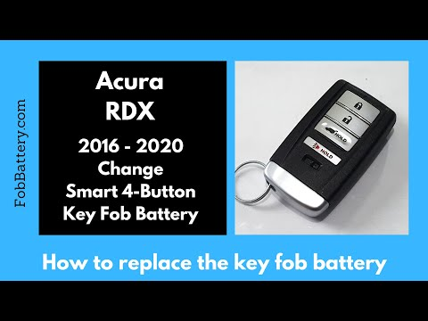 Acura RDX Key Fob Battery Replacement (2016 – 2020)