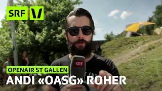 Openair St.gallen: Andi Rohrer Erklärt Das Oasg | Festivalsommer 2015 | Srf Virus