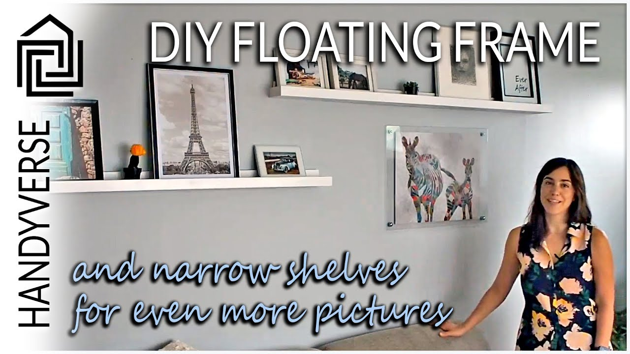 Create Your Own Floating Frame Wall Art and Build Shelves to ...