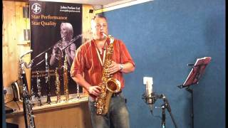 JP042 tenor saxophone demonstration by Pete Long - John Packer Ltd