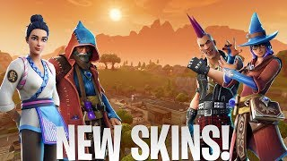New Fortnite Skins! Wizards & Warlocks, Female Sushi Master, And Much More