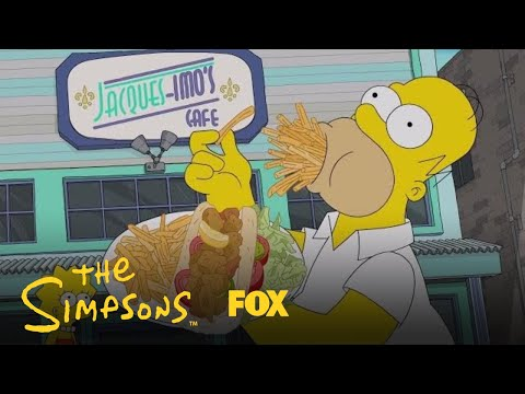 Homer Eats His Way Through New Orleans  Season 29 Ep. 17  THE SIMPSONS